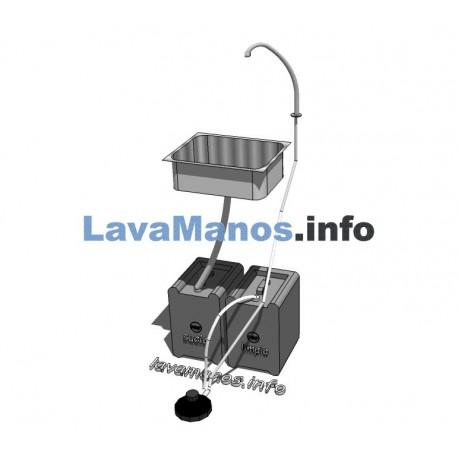 LAVE-MAINS AUTONOME EN KITPOUR PLAN DE TRAVAIL